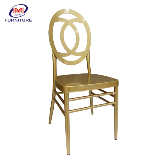 Party Furniture Luxury Style Hotel Banquet Wedding Stacking Metal Dining Chair