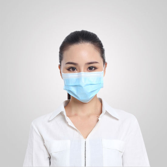 Disposable Colorful Civil Non-Woven Protective Face Mask for Health Care