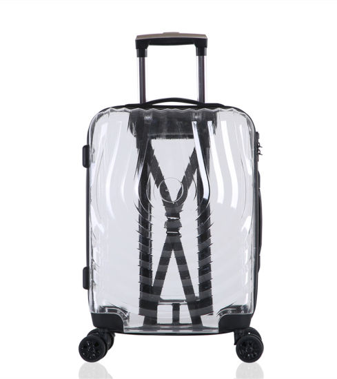 Fashionable Silent Wheels Suitcase 20/24/28inch Transparent Luggage (XHP134)