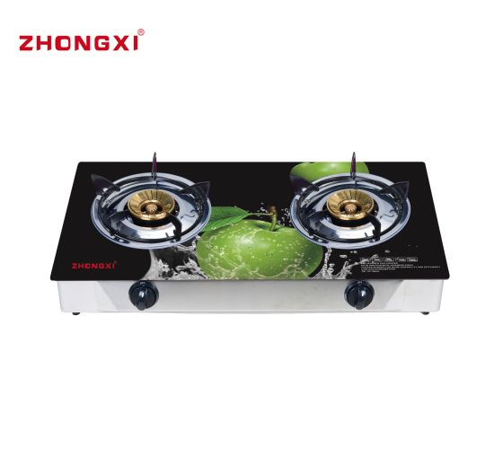 Bangladesh Gas Burner Double Burner 3D Glass Cooktop Gas Stove (JZ-RS302)