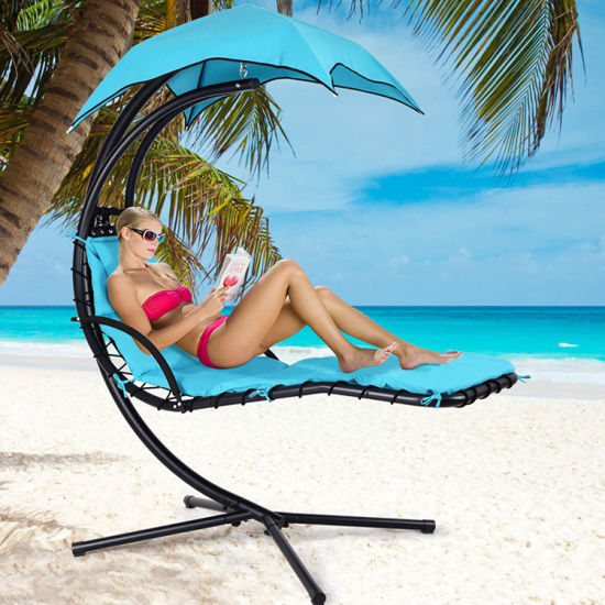 Outdoor Soft Deck Chair with Sunshade for Wholesale pictures & photos