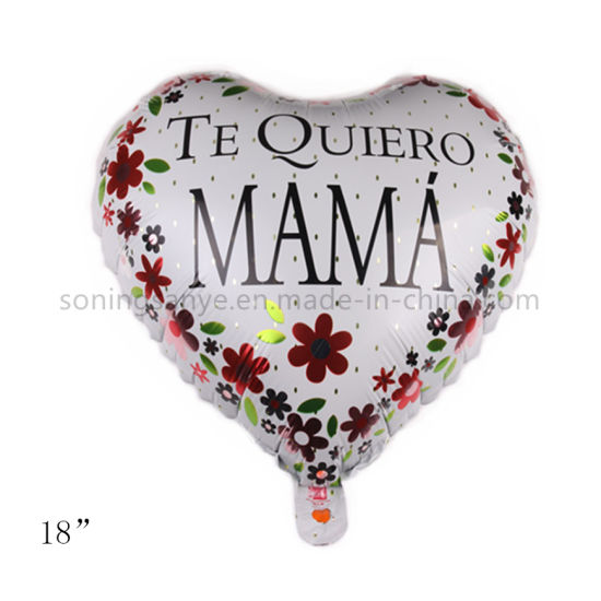 Dto0112 18 Inch Heart Shape Happy Mother's Day Foil Balloons