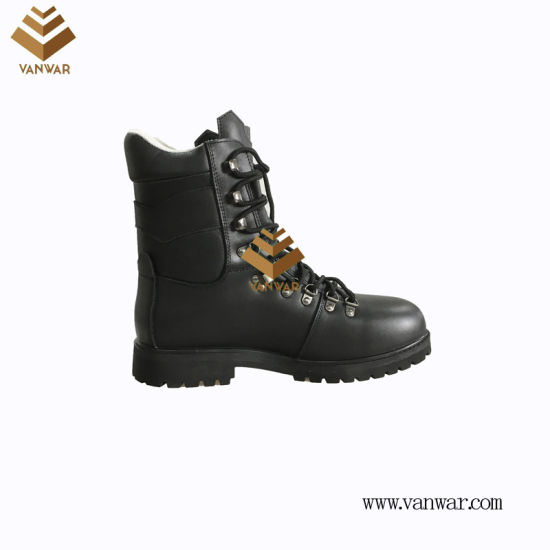 Top Layer Leather Unisex Military Combat Boots of Black with High Quality (WCB061)