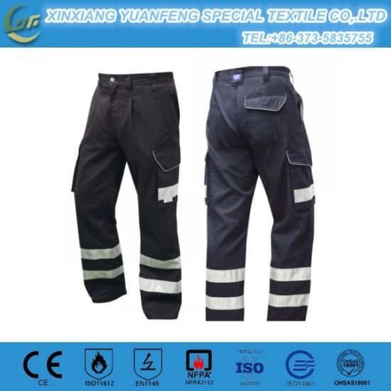 Baggy Fireman Work Pant for Industrial with Reflective Tape