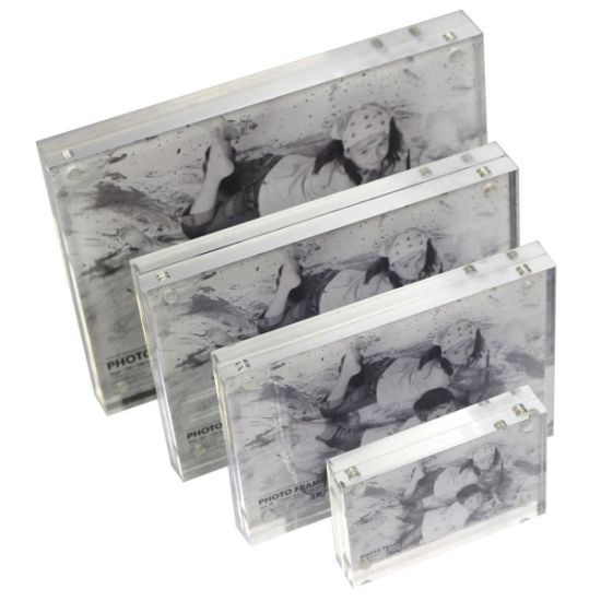 Transparent Magnetic Acrylic Pictures Photo Display Frame Custom Sizes