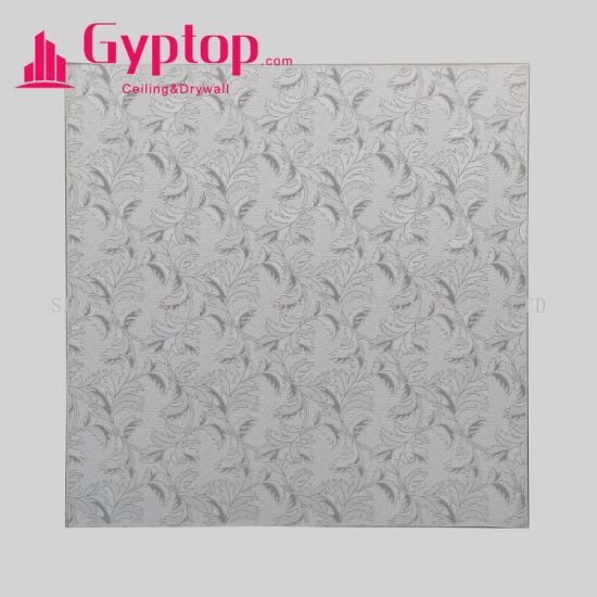 Gypsum Ceiling / PVC Plaster Ceiling Board / Vinyl Faced Gypsum Ceiling Tiles pictures & photos