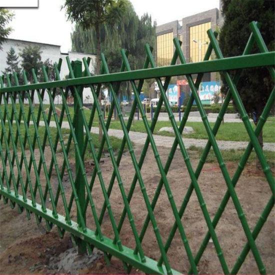 China 1 2m Antique Green Artificial Bamboo Garden Fence Design