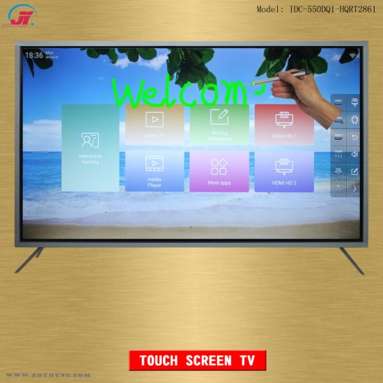 55 Inch Interactive Touch Screen Smart TV and Electronic Whiteboard Display Equipment for Meeting Conference and Classroom Teaching Education (HQRT2861)
