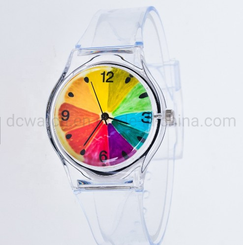 2019 New Trendy Watches Children Quartz Colorful Jelly Sport Plastic Student Wrist Watch pictures & photos