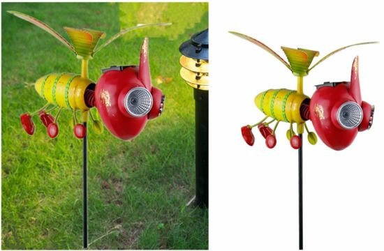 New Creative Metal Insect Shape Solar Garden Crafts Light for Garden/Lawn/Yard Decoration