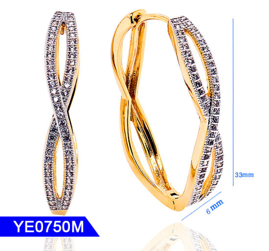 068463800 New Model Handmake Jewellery Sterling Silver or Copper Jewelry Cubic  Zirconia Long Large Hoop Earrings for Women. Get Latest Price