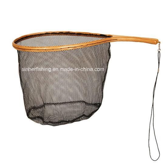 Wooden Frame Polyester Net Fly Fishing Landing Net