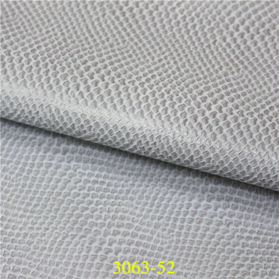 Fashionable Snake Texture PU Material Artificial Leather for Handbags pictures & photos