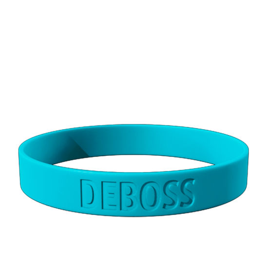 Debossed Silicone Wristbands Bracelets Promotion pictures & photos