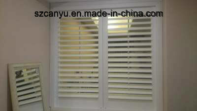 Hinged Aluminum Double Window with Window Blinds