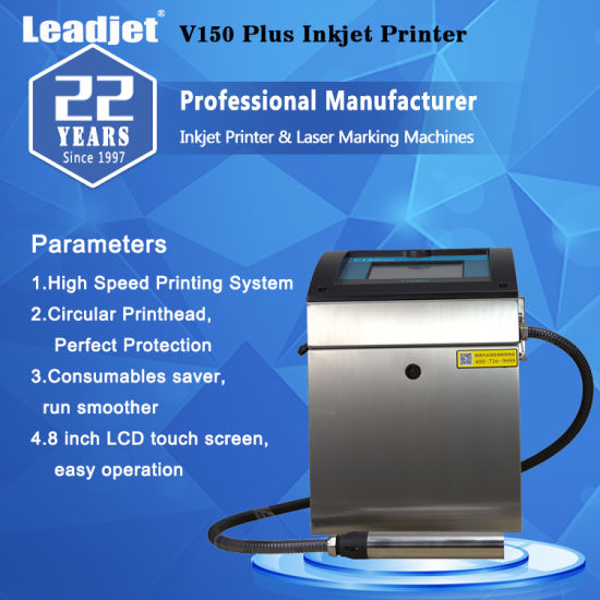 Continuous Inkjet Expiry Date Coding Inkjet Printer Machine/Inkjet+Printers pictures & photos