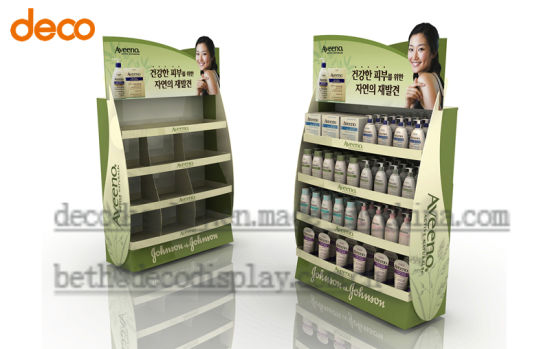 Creative Floor Display Cosmetic Cardboard Display Stand Paper Display pictures & photos