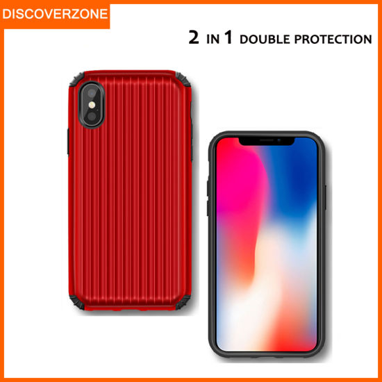 New Suitcase TPU+PC Mobile Phone Case 2in1four Corner Shatter-Resistant Factory Direct Wholesale