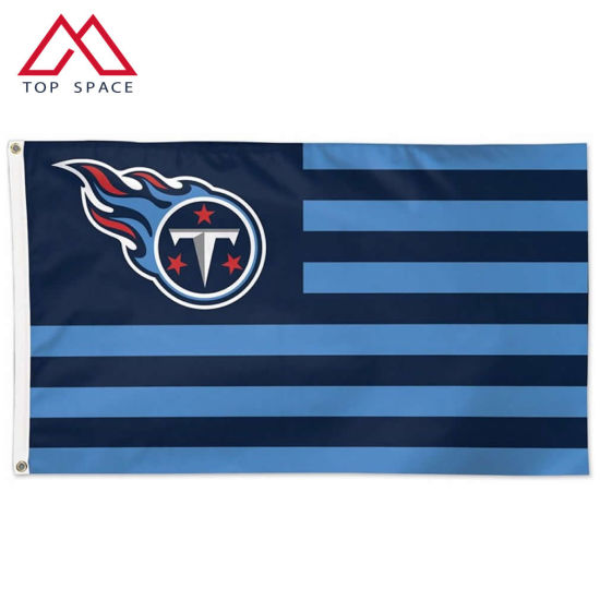 90*150cm Knitted High Quality Tennessee Titans Americana Stripes Flag
