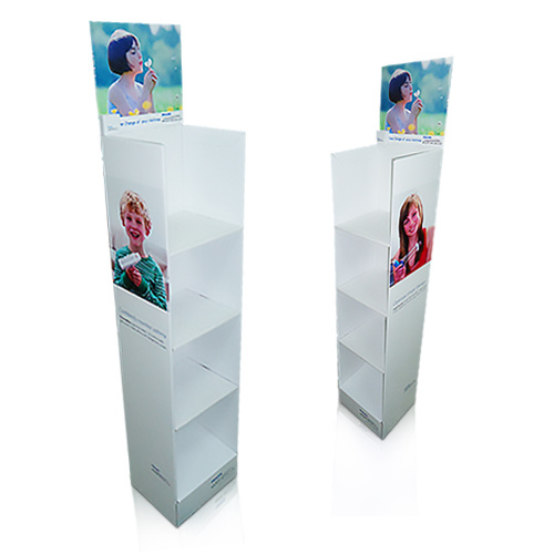 China Yacai Sturdy Floor Cardboard Display Stands For Retail Toys UK New Cardboard Display Stands Uk