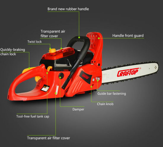 Gasoline Powered Fuel Efficient 37cc Chain Saw pictures & photos