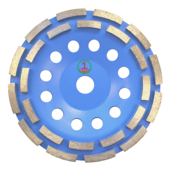 China Professional Quality Double Raw Segment Turbo Cup Disc Wheel for Grinding Stone, Granite, Marble, Concrete