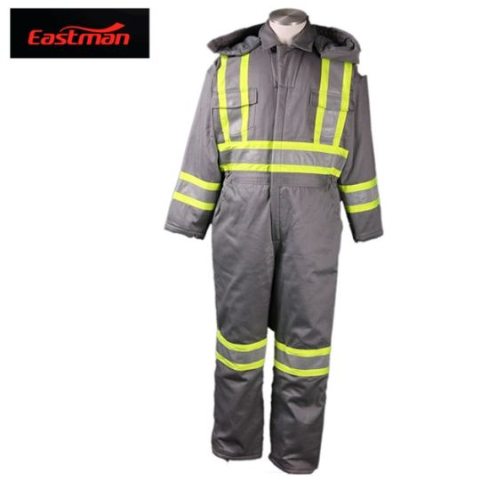 ASTM F1506 C/N88/12 Flame Retardant Winter Coverall with Fr Insulation