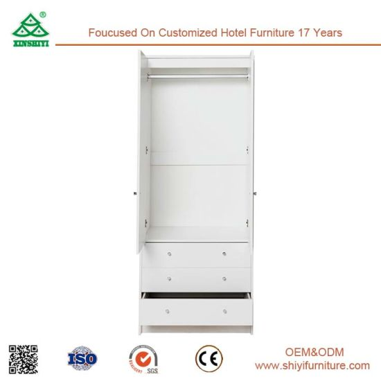 MDF/MFC/Plywood Particle 2 Doors Board Wardrobe pictures & photos