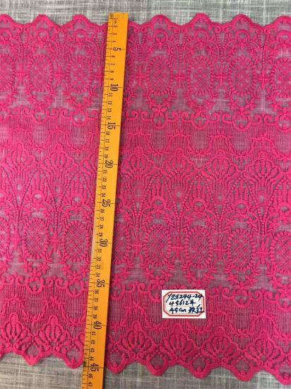 Wholesale Wide Stretch Cotton Pink Wedding Lace and Trims