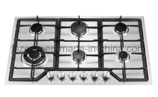 Home Liance Cookware Five Burner Gas Stove With Cast Iron Pan Support Jzg6801a