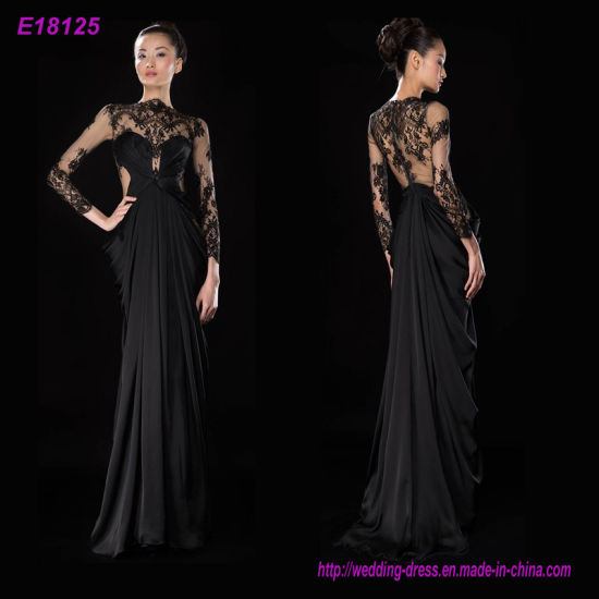 China Wholesale Fashion Classic Designs Long Sleeves Evening Dress ...