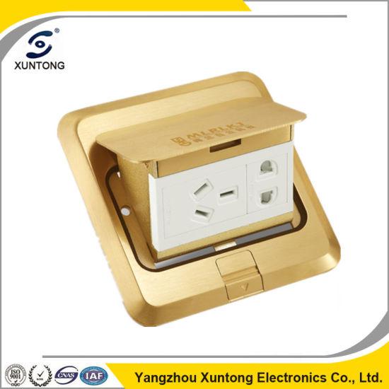Hot Sell Multifunctional Outlet Floor Socket Brass Floor Socket Box