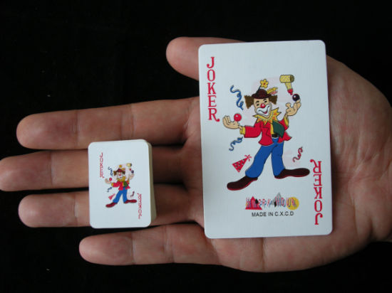 Mini Size Custom Design Promotional Poker Paper Playing Cards pictures & photos