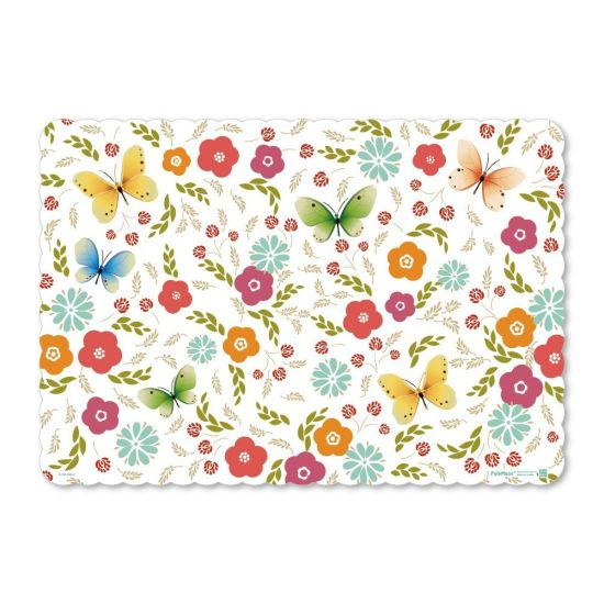 Flower Pattern PP Placemats Washable Table Mats pictures & photos