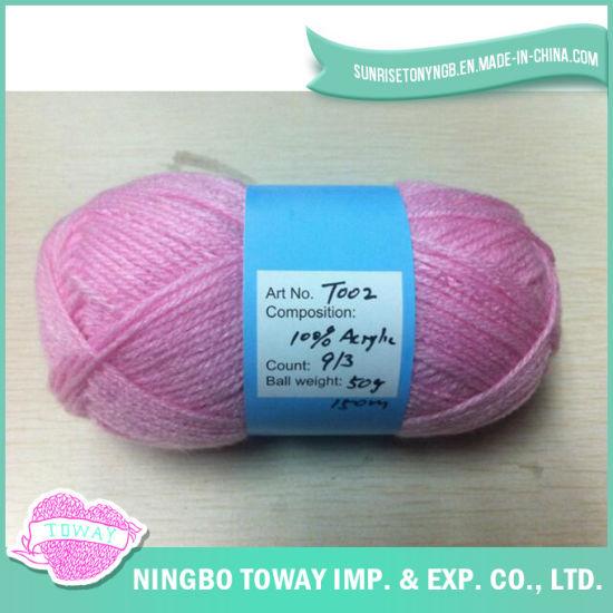 Imitation Acrylic Breathable Hand Knitting Bulky Yarn (RW, Dyed, HB)