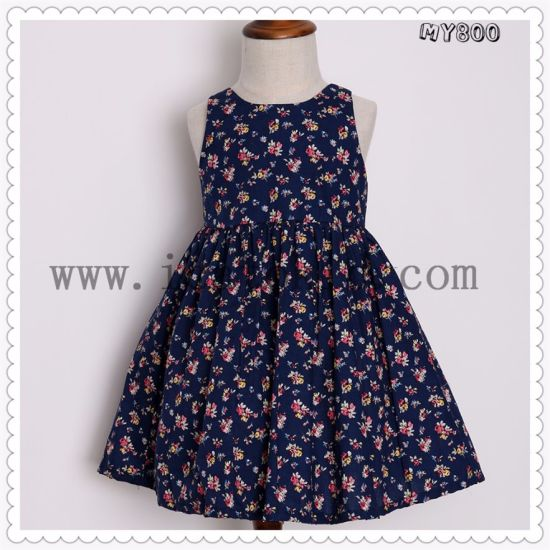 c5e6d1d56 China Everyday Cotton Casual Baby Frock Designs Dress for 2t-10t ...