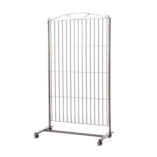 Single Side Exhibition Hanging Hook Mesh Wire Grid Wall Floor Type Display Stand with Panel
