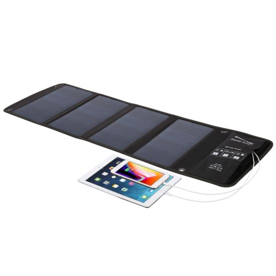 28W Mobile Phone Power Bank Battery Sunpower Foldable Solar Panel Charger Bag USB DC Output pictures & photos