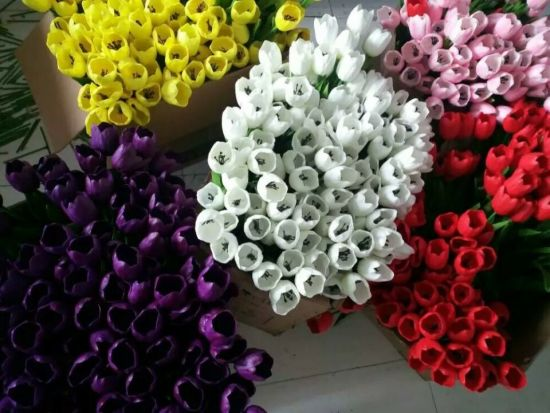Best Selling Artificial Flowers of PU Tulip Gu0118134344 pictures & photos