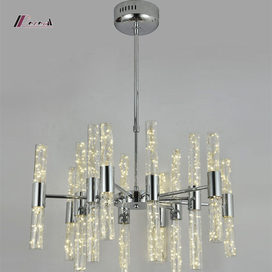 Simple Design Lighting Aluminium Crystal Pendant Lamp pictures & photos
