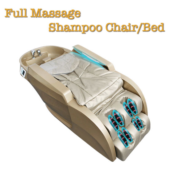 Golden High End Hair Washing Shampoo Massage Chair Bed pictures & photos