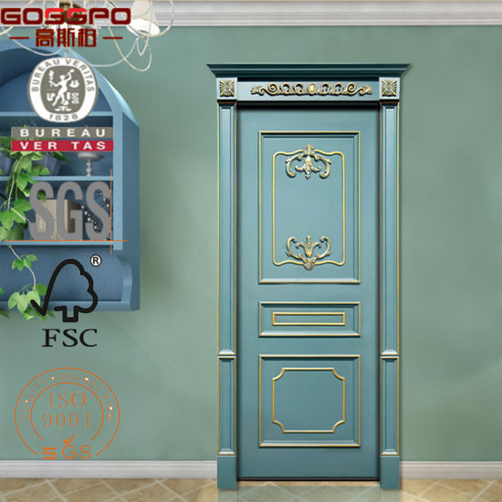 China Apartmet Classic Carved Interior Wood Doors For Sale Gsp2 027