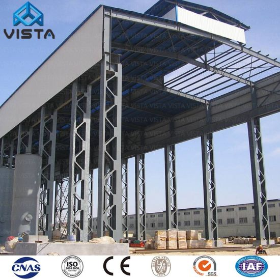 China High Quality Industrial Long Large Span Prefabricated Grating Light Steel Structure Warehouse Workshop Storage Shed China Steel Structure Steel Structure Warehouse