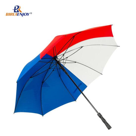 Popular Glassfiber Frame Pongee Windproof Outdoor Sun/Rain Sports Golf Umbrella