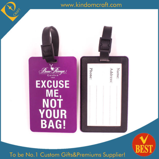 2015 Wholesale Simple Style PVC Luggage Tag for Travel