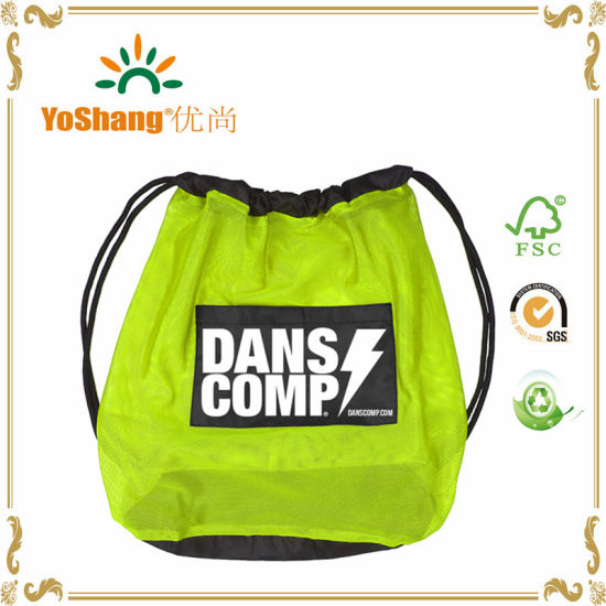 Recycled Material Produced Sport Drawstring Bag for Advertising pictures & photos