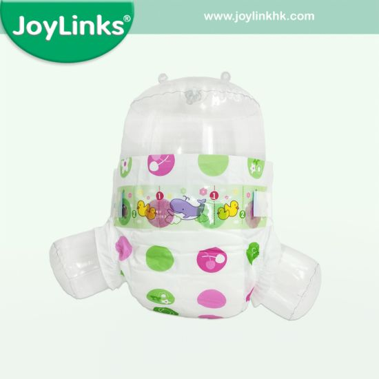 Magic/PP Tapes Disposable Baby Diapers with Cute Animal Graphics