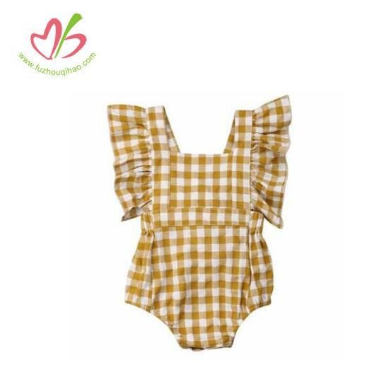 Plaid Baby Girl Ruffle Bloomer Toddler Clothing