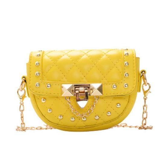 Women's Crossbody Bag Quilted Shoulder Bag Tote Bag Studded Small Square Bag Esg13569