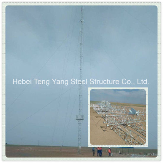 Steel Galvanized Guyed Mast Antenna Telecom Lattice Tower pictures & photos